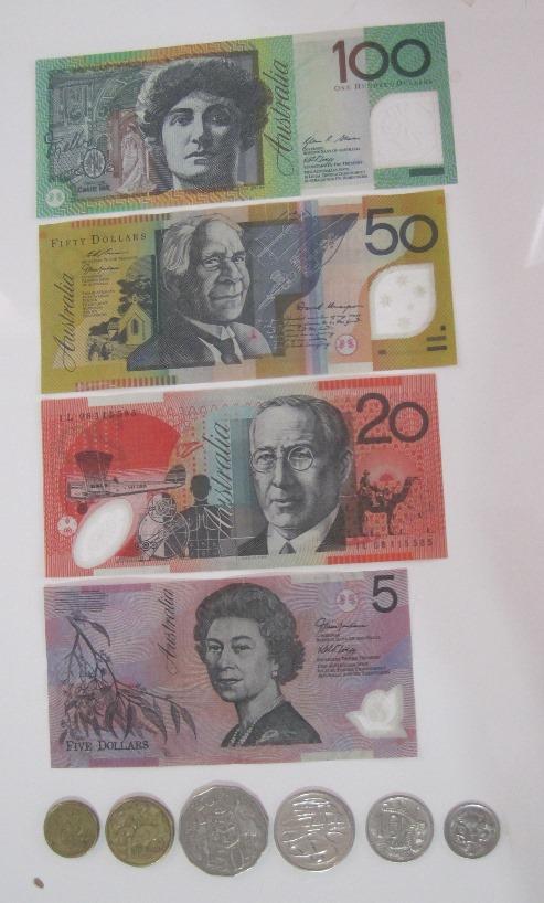 澳大利亚的所有通行的钱币