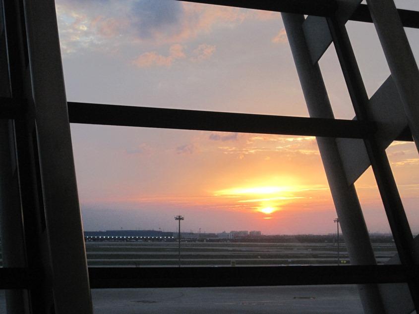 浦东机场的黄昏2