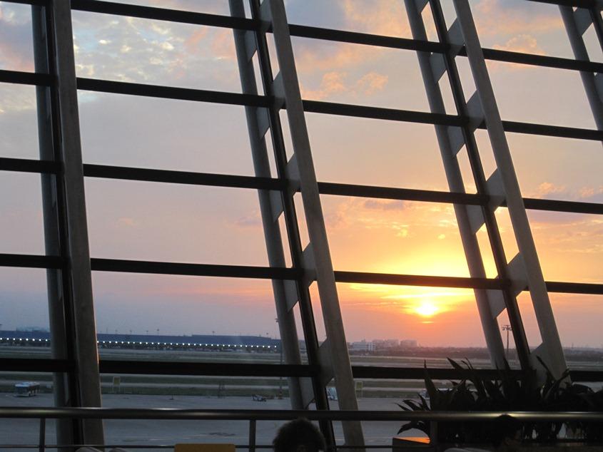 浦东机场的黄昏1